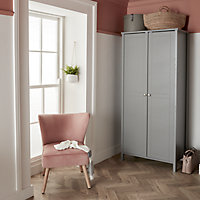 Zorita Rose Velvet effect Occasional chair (H)830mm (W)650mm (D)715mm
