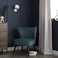 Zorita Teal Velvet effect Occasional chair (H)830mm (W)650mm (D)715mm