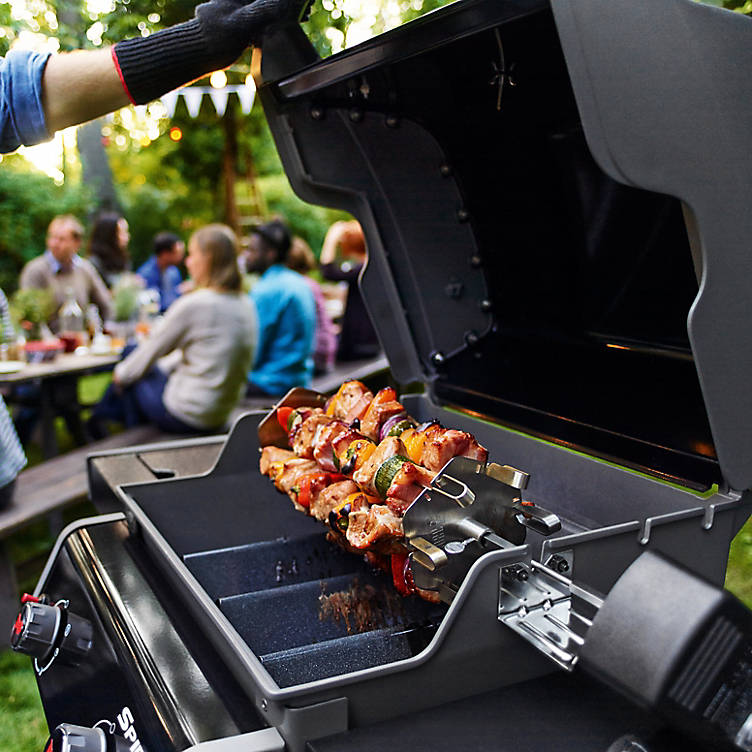 Kebabs on a BBQ from B&Q