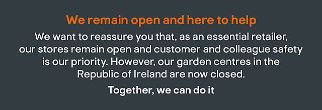 We remain open and here to help