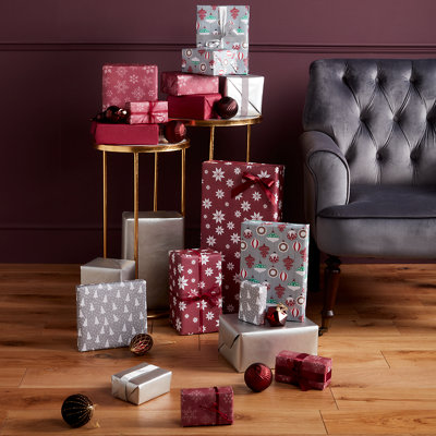 Wrapped presents under Christmas tree