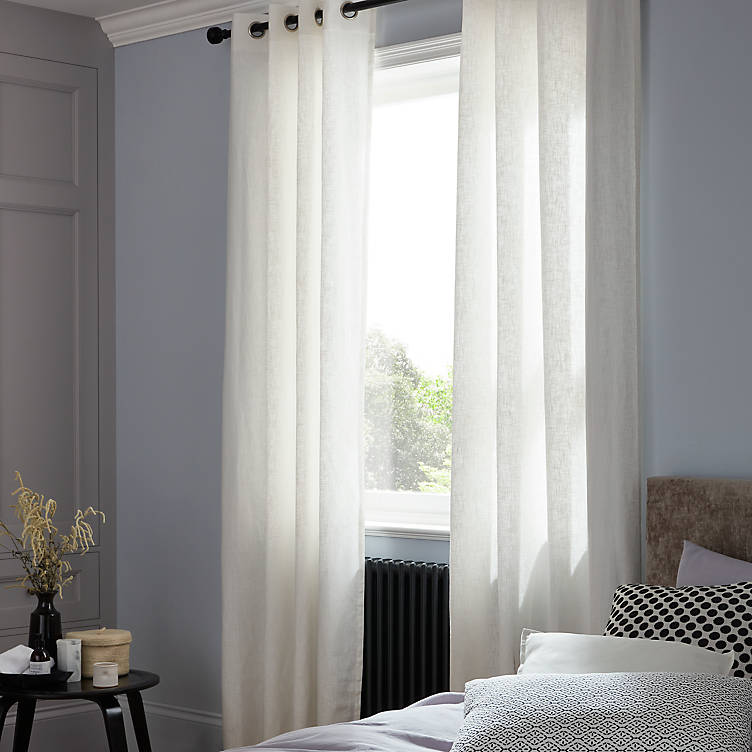 Soft and minimal voile curtains