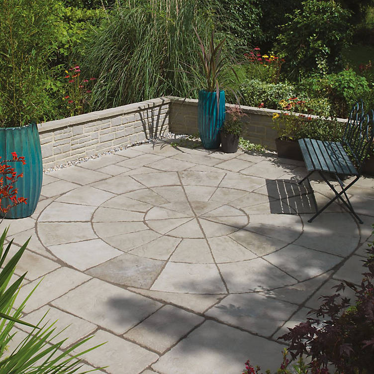 ideas for patios, paving slabs b&q