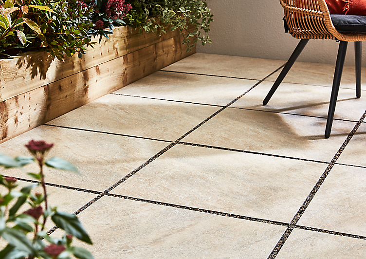 b & q paving slabs, gardens with paving slabs