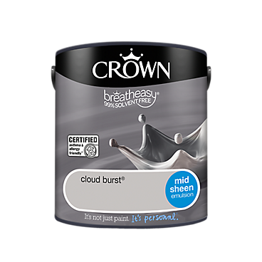 Crown 2.5L standard coloured mid sheen emulsion