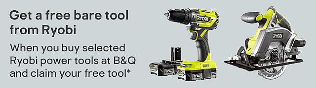 Free bare tool with selected Ryobi power tools