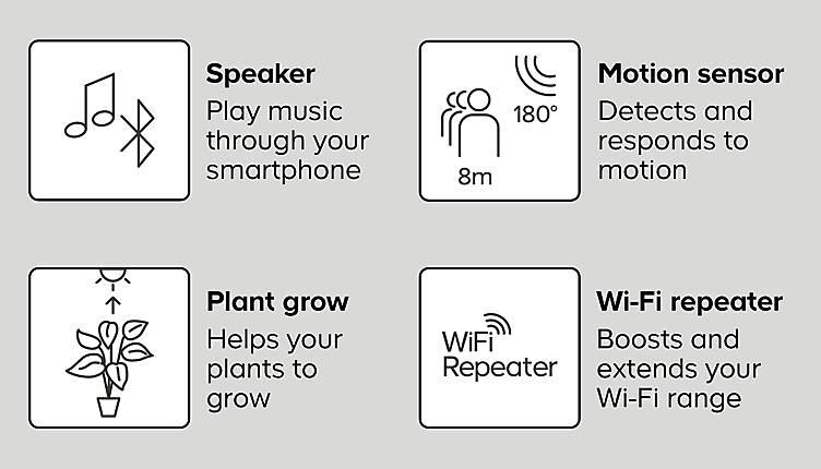 Lightbulb features, smart lightbulbs at B&Q