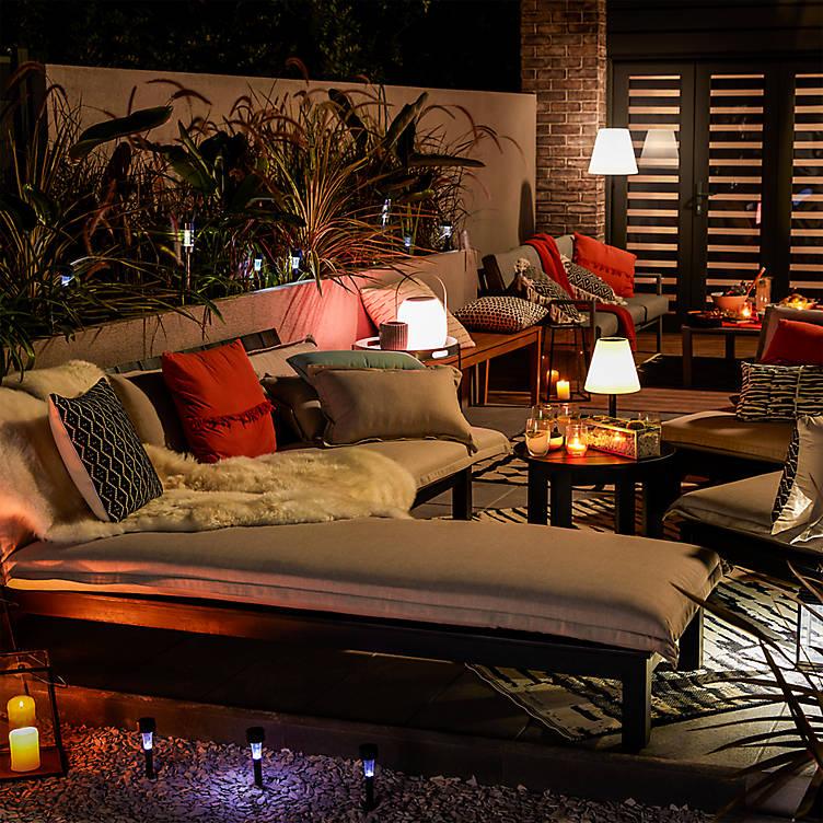 Romantic evening ideas, garden lighting from B&Q