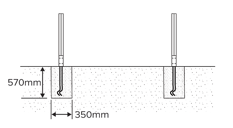how to put in fence post, neva garden fencing from B&Q