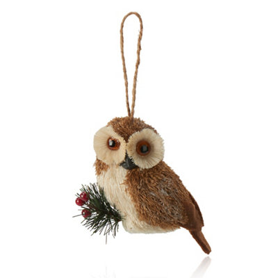 Owl Christmas tree hanging decoration