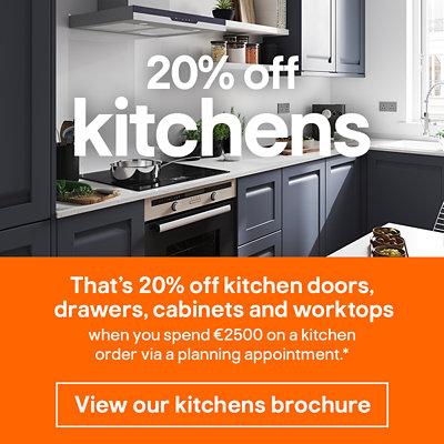 20% off kitchens