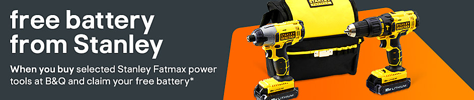 Free battery with selected Stanley power tools