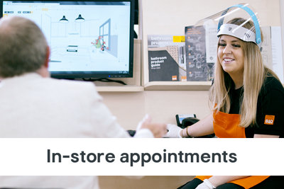 bathroom, kitchen and bedroom planning appointments at B&Q