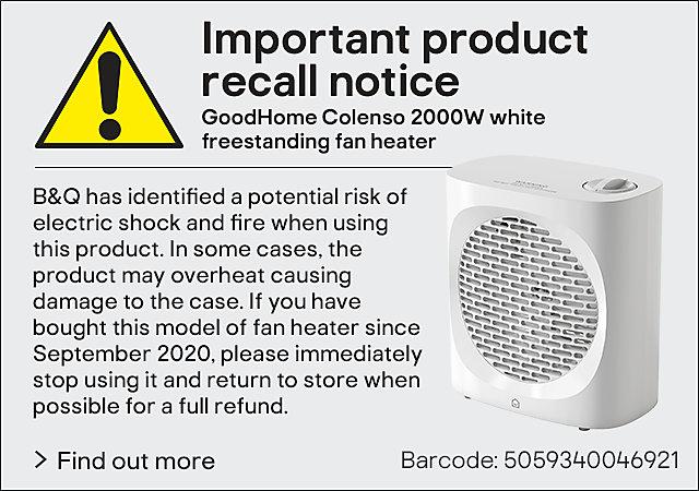 Urgent product recall