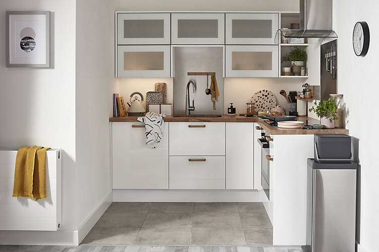 Stevia Gloss White Compact Kitchen