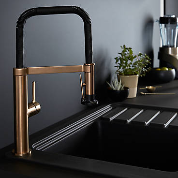 brass kitchen tap