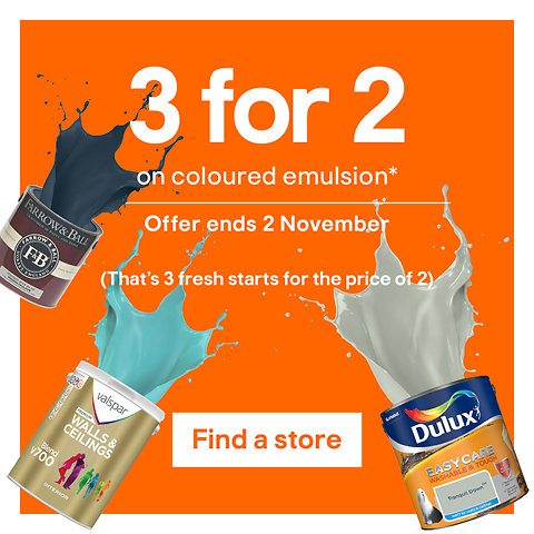 3 for 2 on coloured emulsion