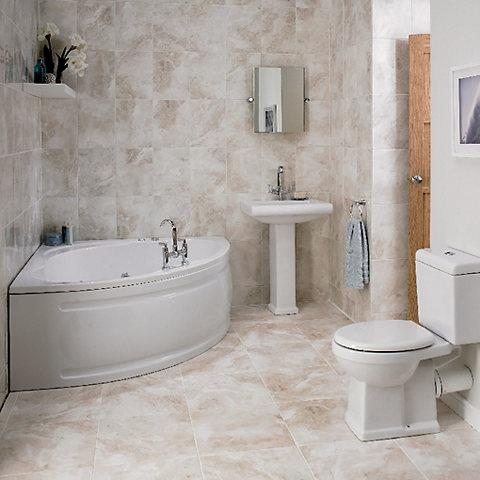Cooke & Lewis Strand RH Acrylic Corner Bath