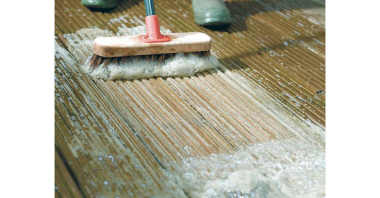 How to clean your decking, step 2