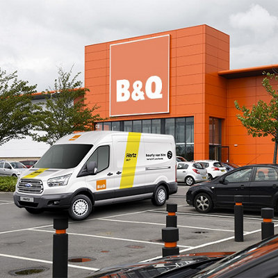 b&q club £10 off hertz van rental