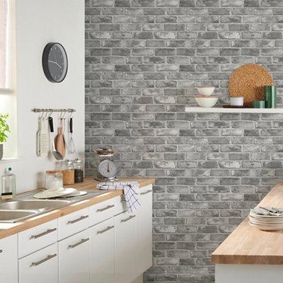 goodhome pernay grey brick textured wallpaper~3663602559672 01i bq?$PROMO 460 460$
