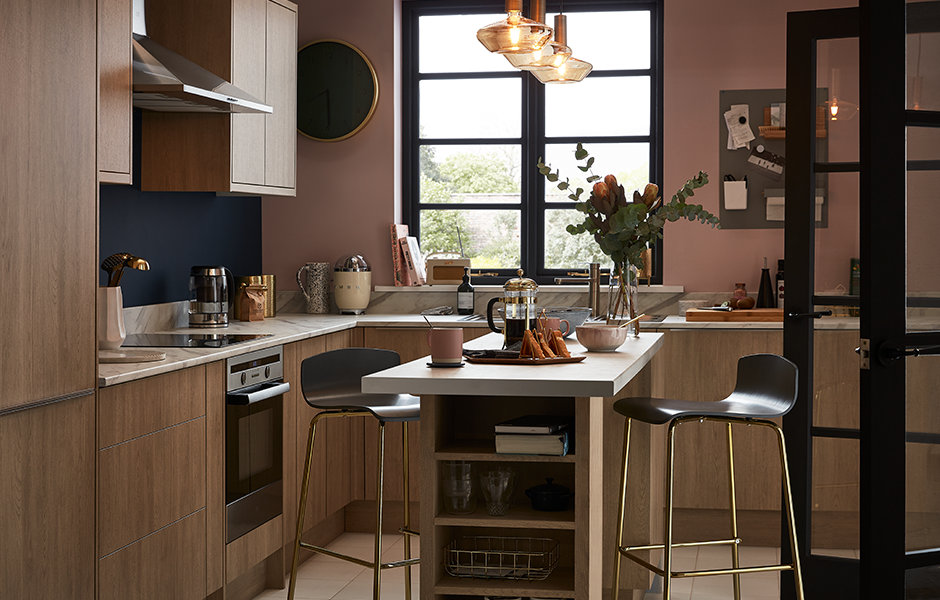 GoodHome Fitted Kitchens Chia Light Oak