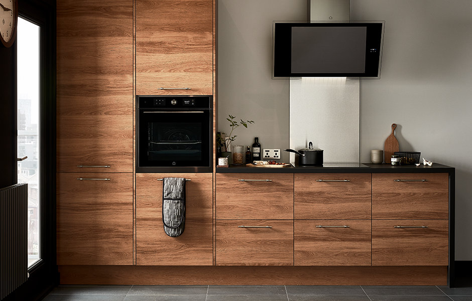 GoodHome Fitted Kitchens Chia Dark Wood